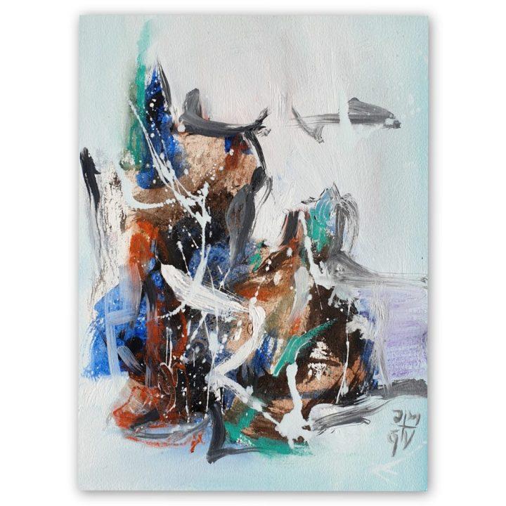 peinture abstraite sur papier
